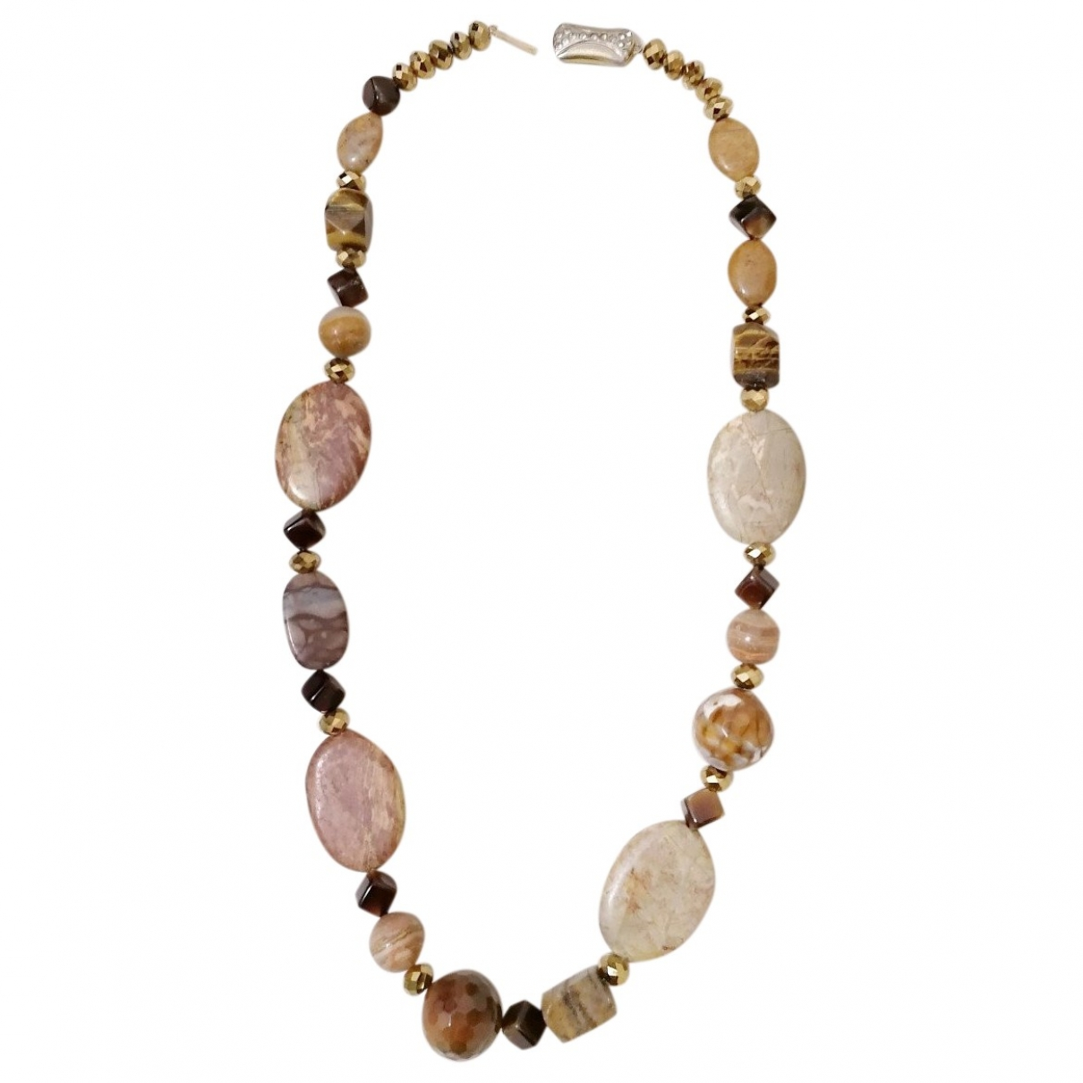 - Collier Lapis lazuli pour femme en perles - camel
