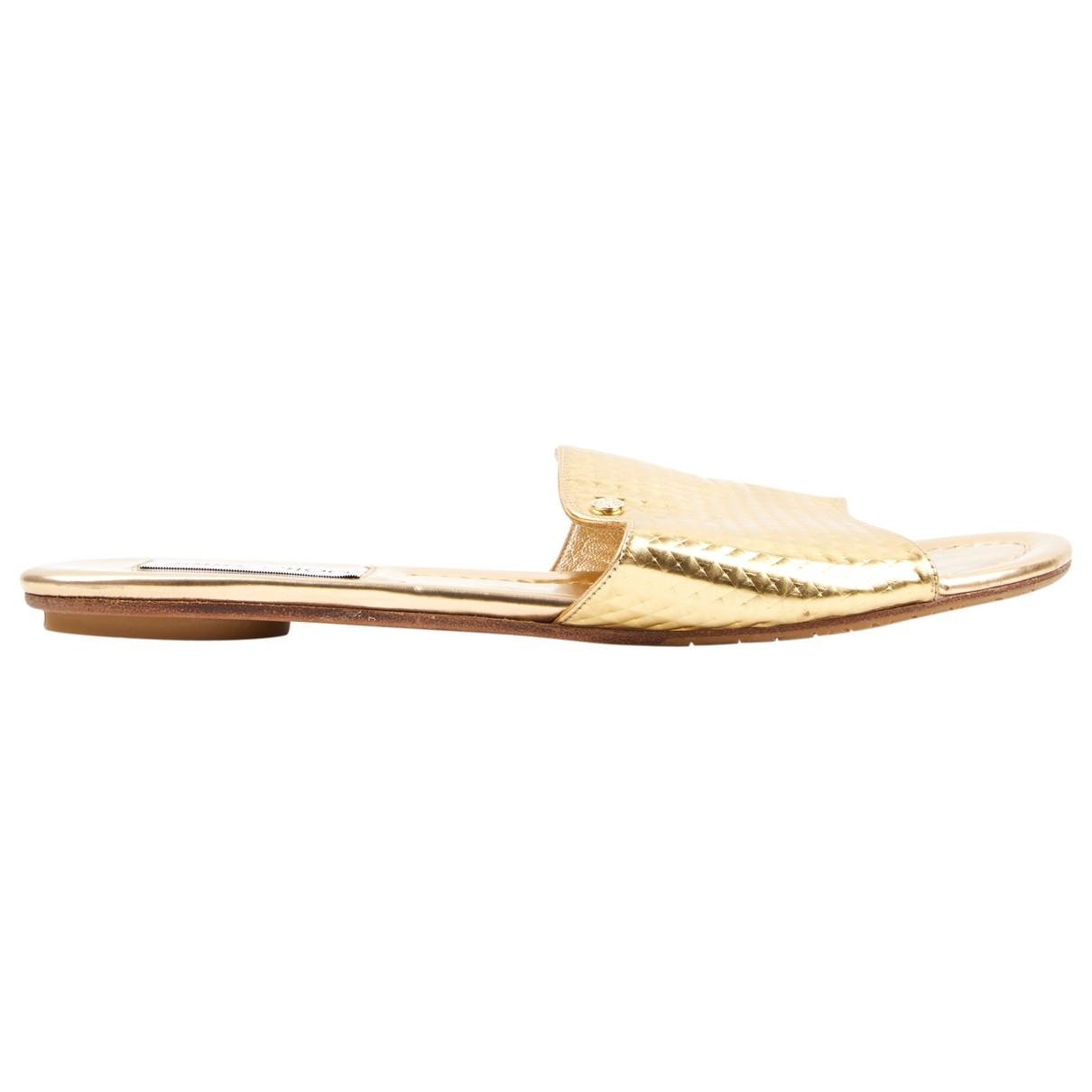 Jimmy Choo \N Sandalen in  Gold Leder