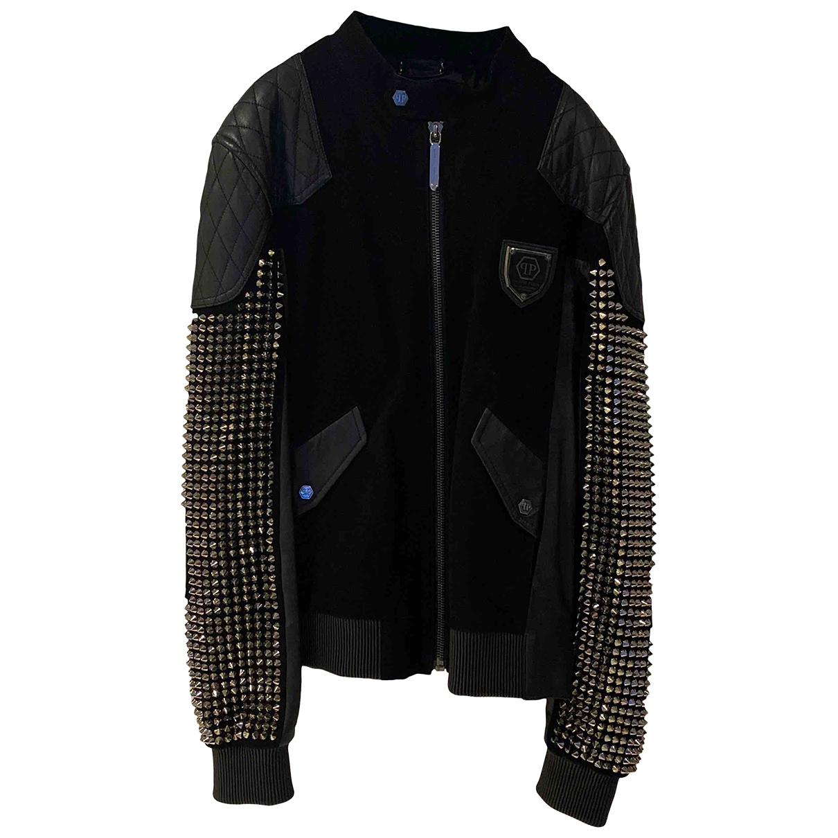 Philipp Plein \N Black Leather jacket  for Men XL International
