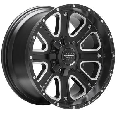 Pro Comp Axis Series 72, 20x10 with 5x150 Bolt Pattern - Satin Black - 5172-21055