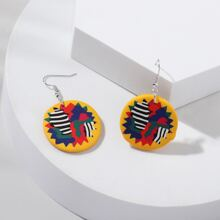 Colorful Round Drop Earrings