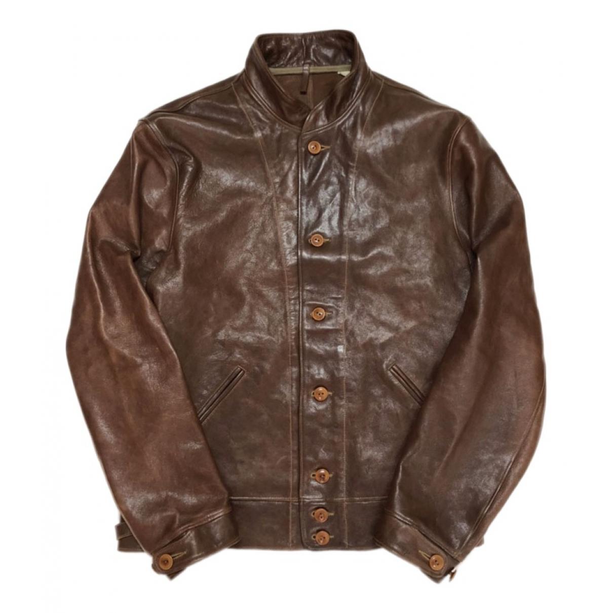Levi's \N Brown Leather jacket  for Men L International