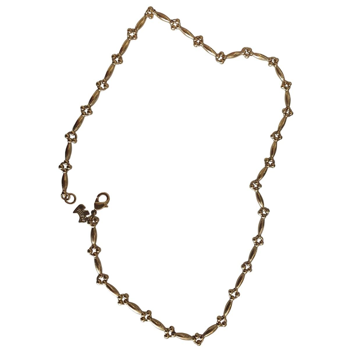Non Signe / Unsigned Chaines Halskette in  Gold Vergoldet