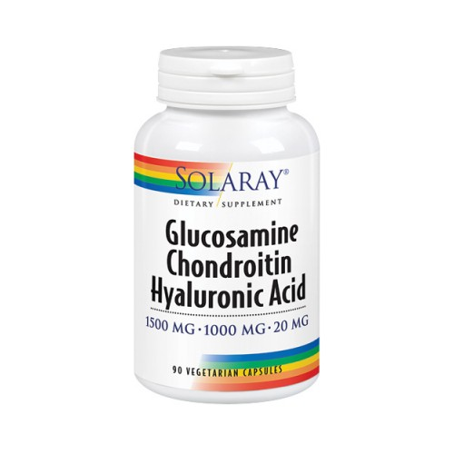 Glucosamine Chondroitin Hyaluronic Acid 90 Veg Caps by Solaray