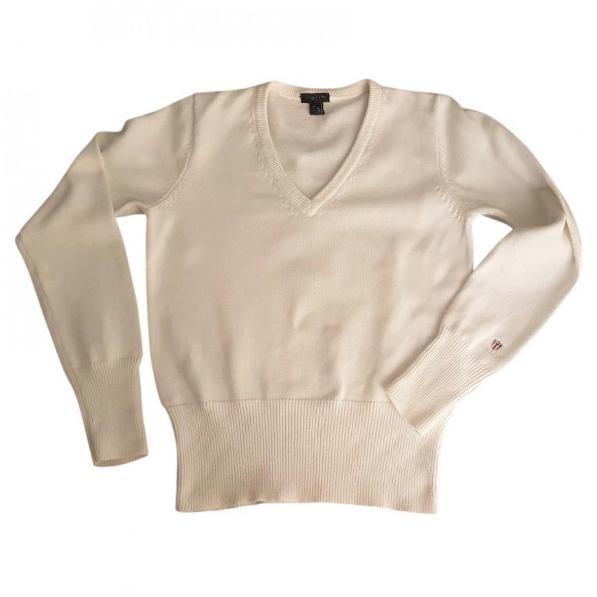 Gant - Pull   pour femme en coton - blanc