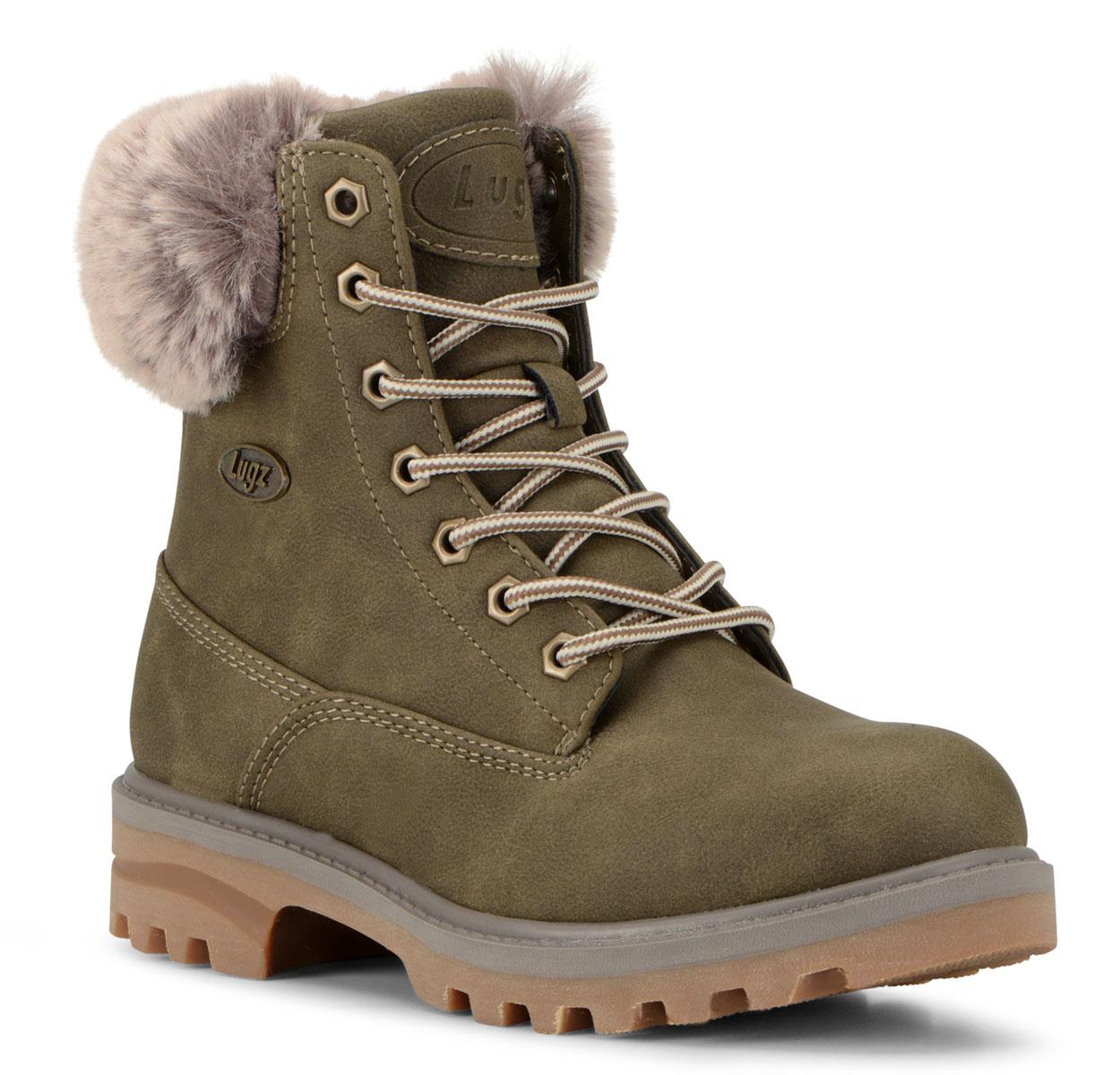 Women's Empire Hi Fur 6-Inch Boot (Choose Your Color: WOODLAND/MIRE/GUM, Choose Your Size: 6.5)