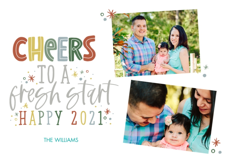 New Year's Photo Cards 5x7 Cards, Standard Cardstock 85lb, Card & Stationery -A Fresh Start