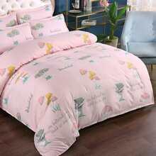 Set de cama con estampado de seta sin relleno