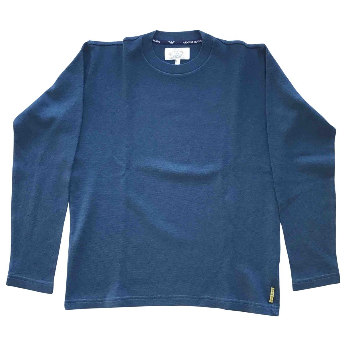 Armani Jeans \N Pullover.Westen.Sweatshirts  in  Blau Wolle