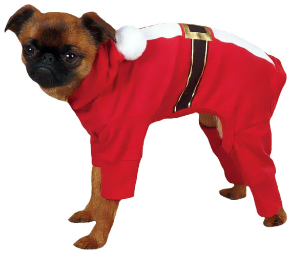 Casual Canine Santa Pajama Small Red