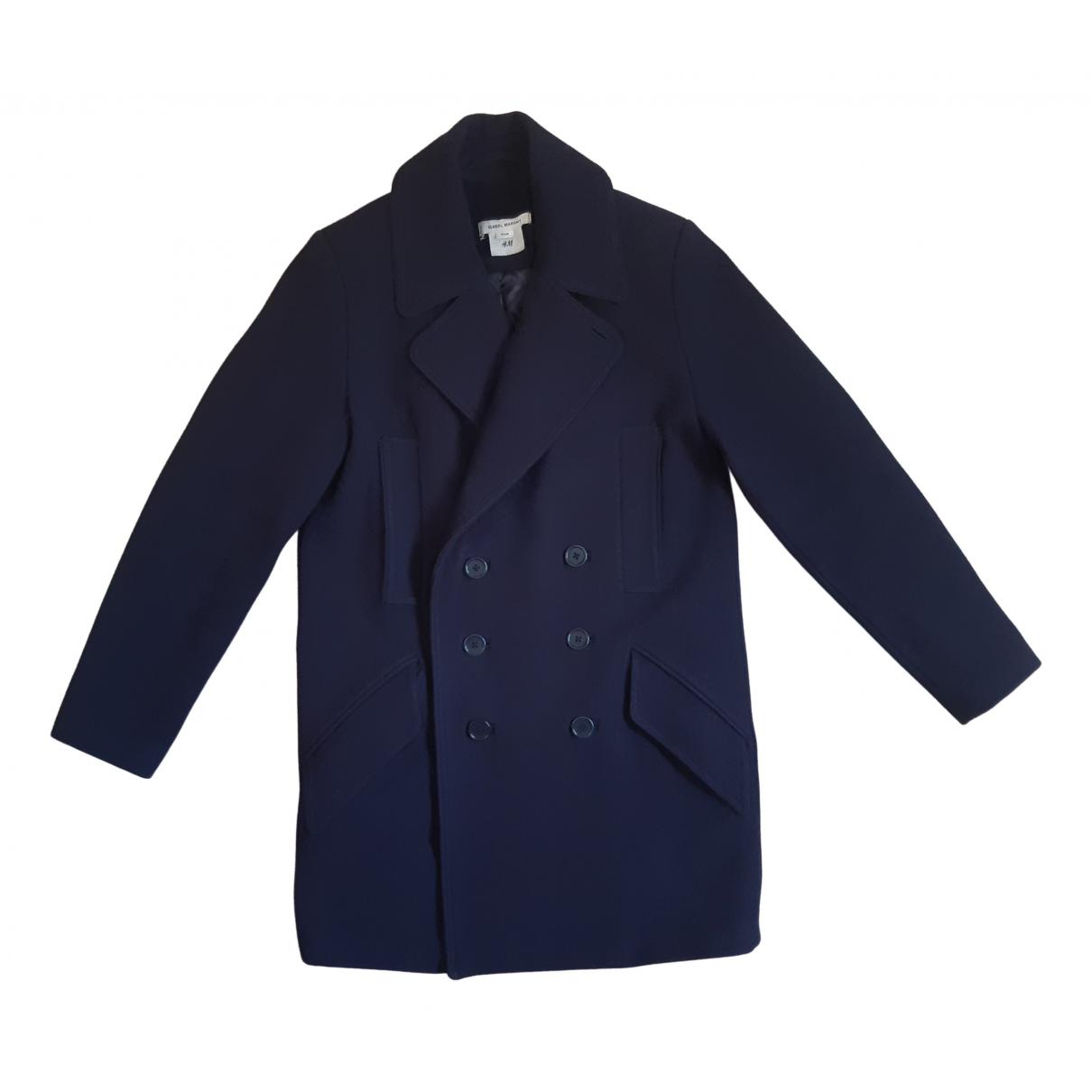 Isabel Marant Pour H&m \N Navy Wool coat  for Men 46 FR