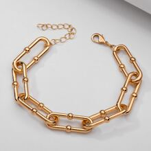 Pulsera vinculada con cadena minimalista