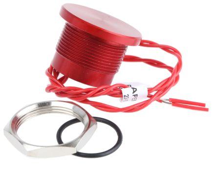 APEM Wire Lead Piezo Switch, , IP68, 200 mA @ 24 V dc, NO, -40 → +75°C