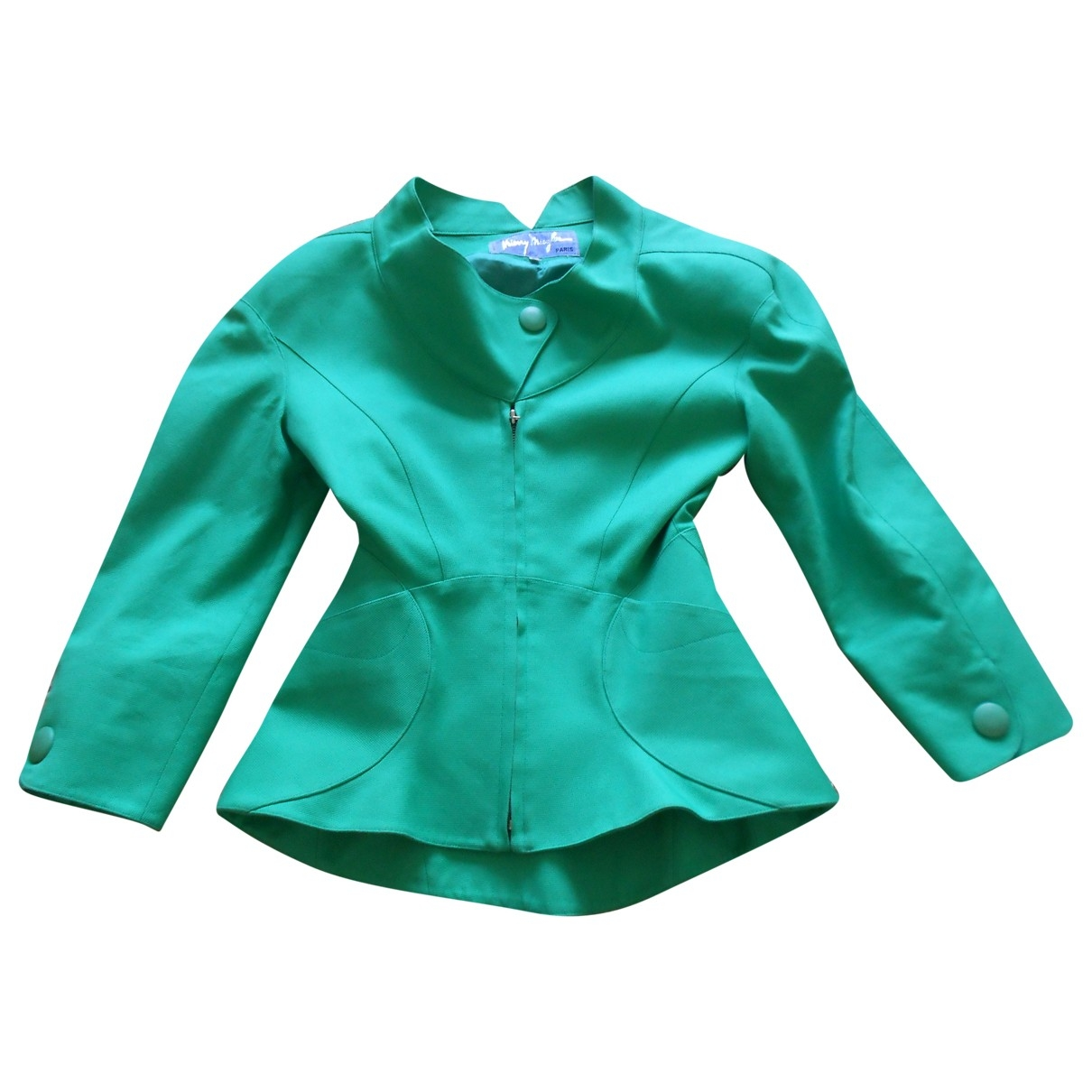 Thierry Mugler \N Green Cotton jacket for Women 38 FR