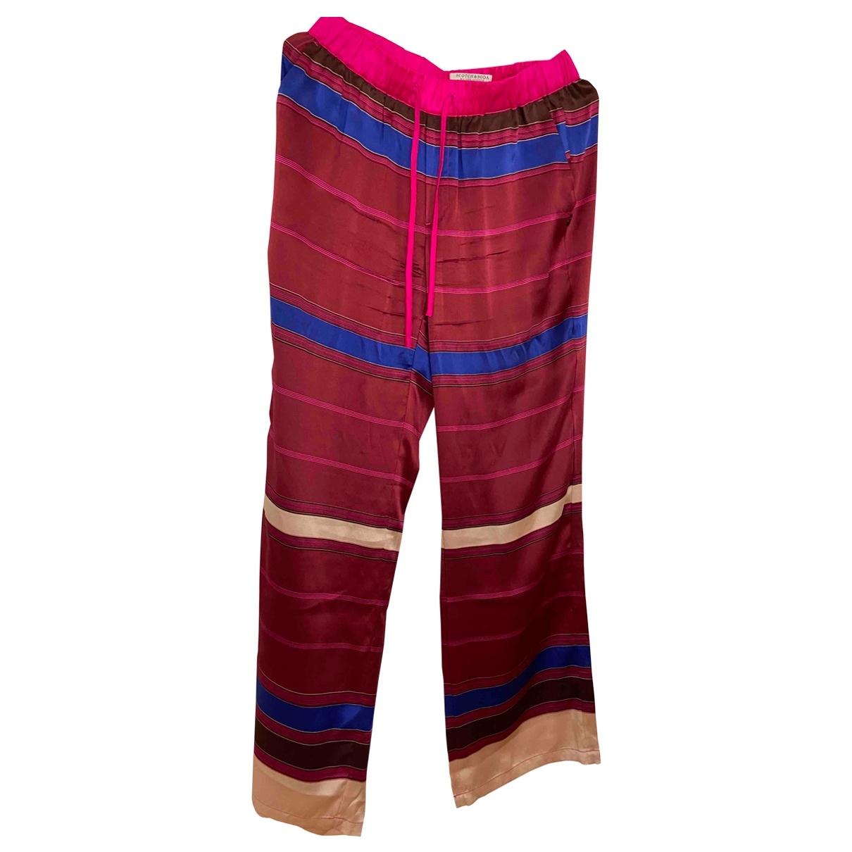 Pantalon recto de Seda Scotch & Soda