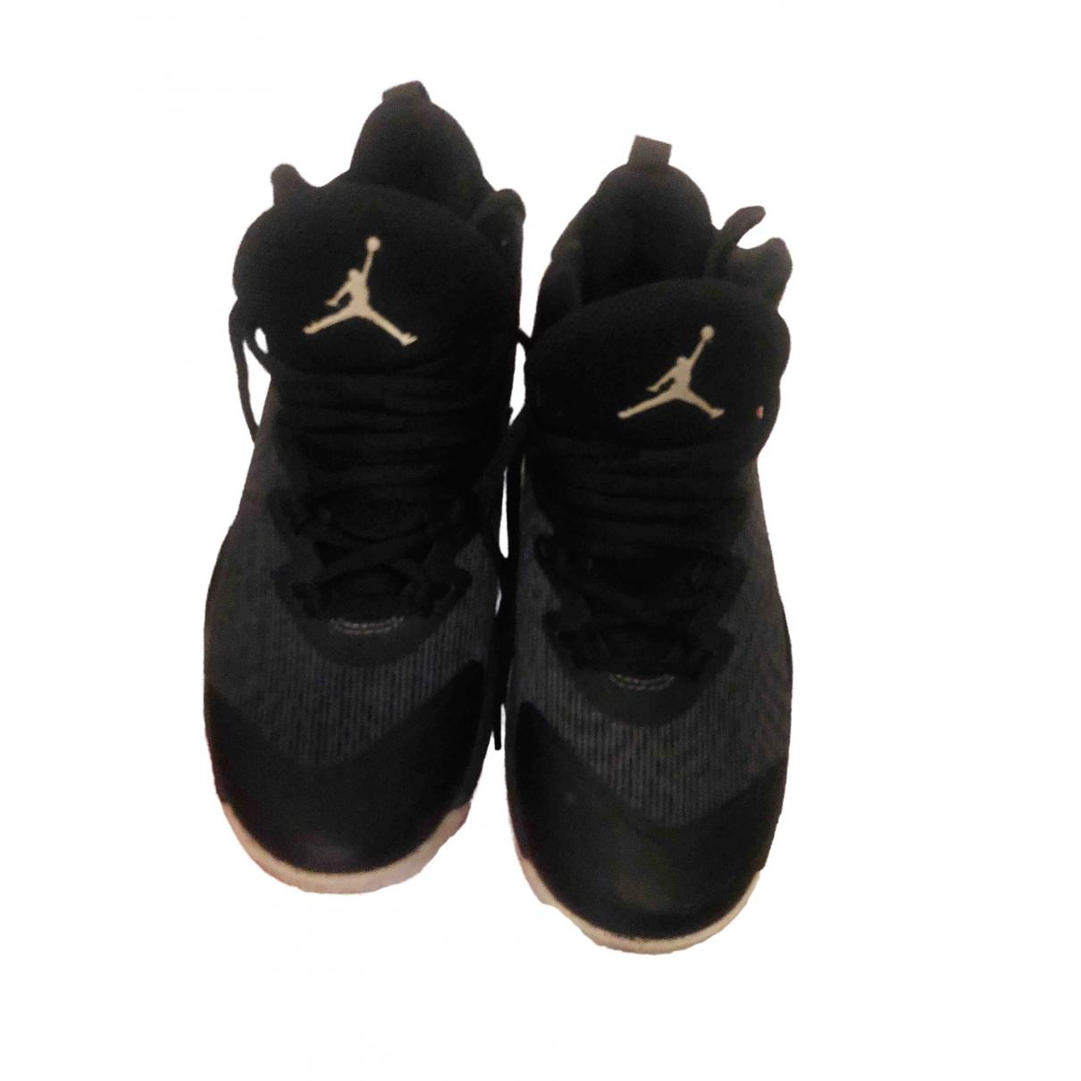 Jordan - Baskets   pour femme en cuir - noir