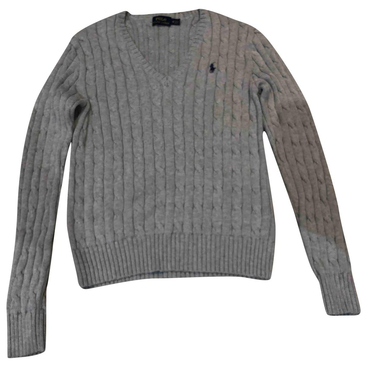 Polo Ralph Lauren - Pull   pour femme en coton - gris