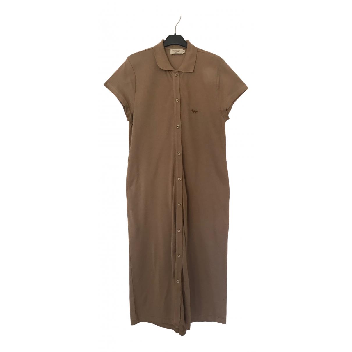 Maison Kitsune \N Kleid in  Braun Baumwolle