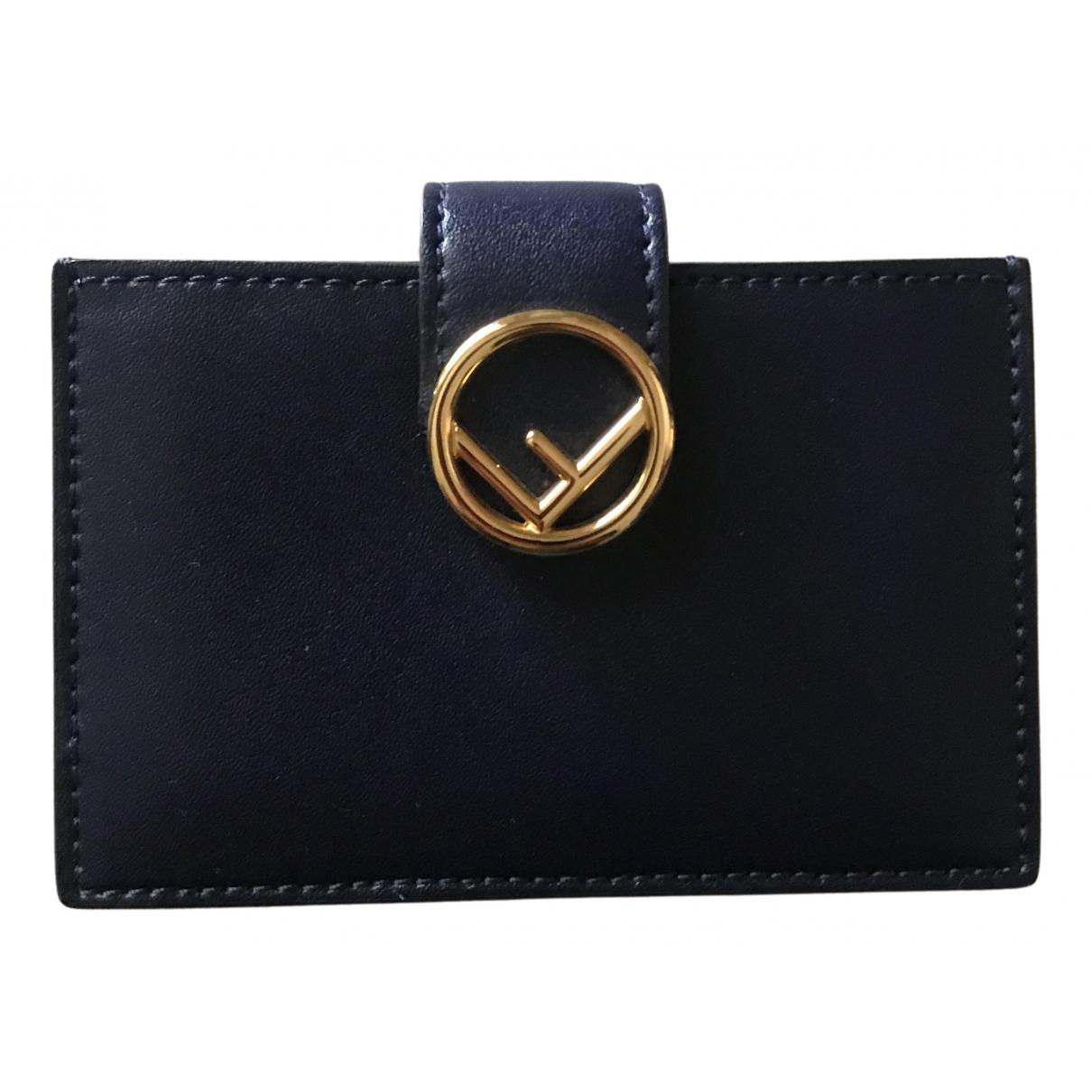 Fendi \N Navy Leather Purses, wallet & cases for Women \N