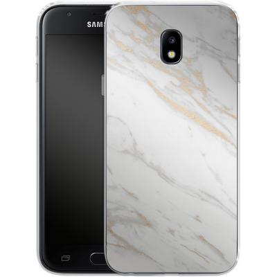 Samsung Galaxy J3 (2017) Silikon Handyhuelle - Gold Marble Elegance von #basic