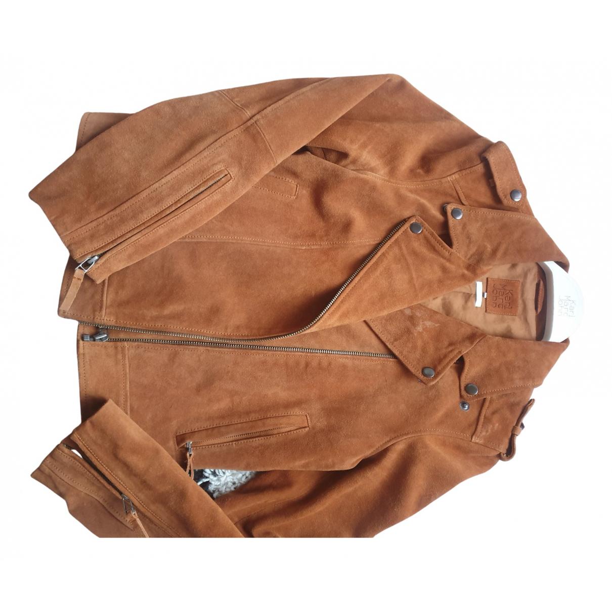 Karl Marc John N Camel Leather jacket for Women 40 FR