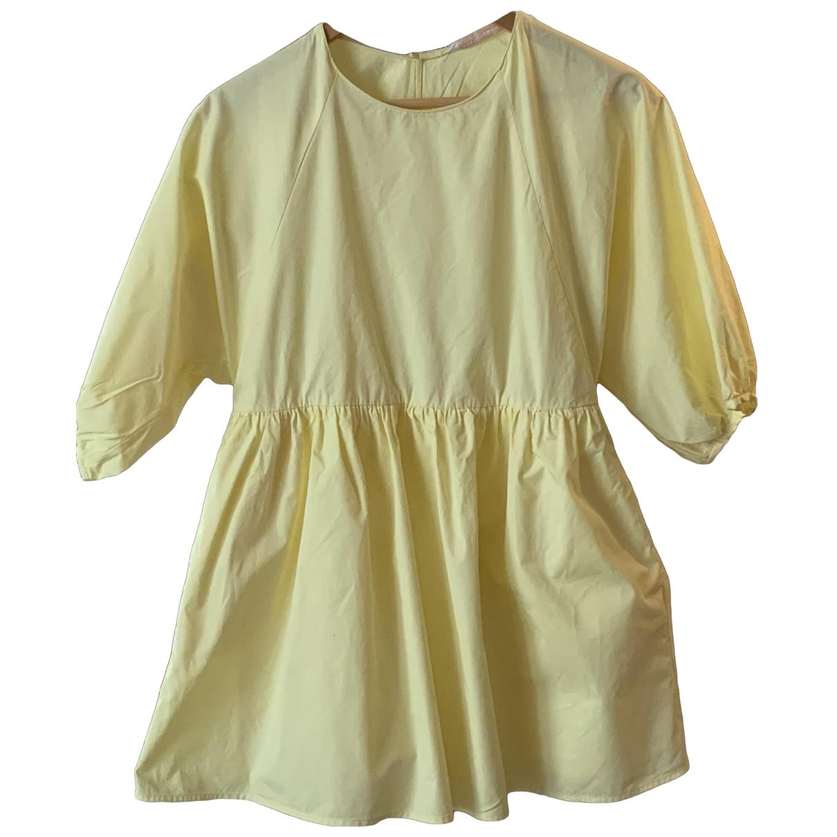 Zara - Combinaison   pour femme en coton - jaune