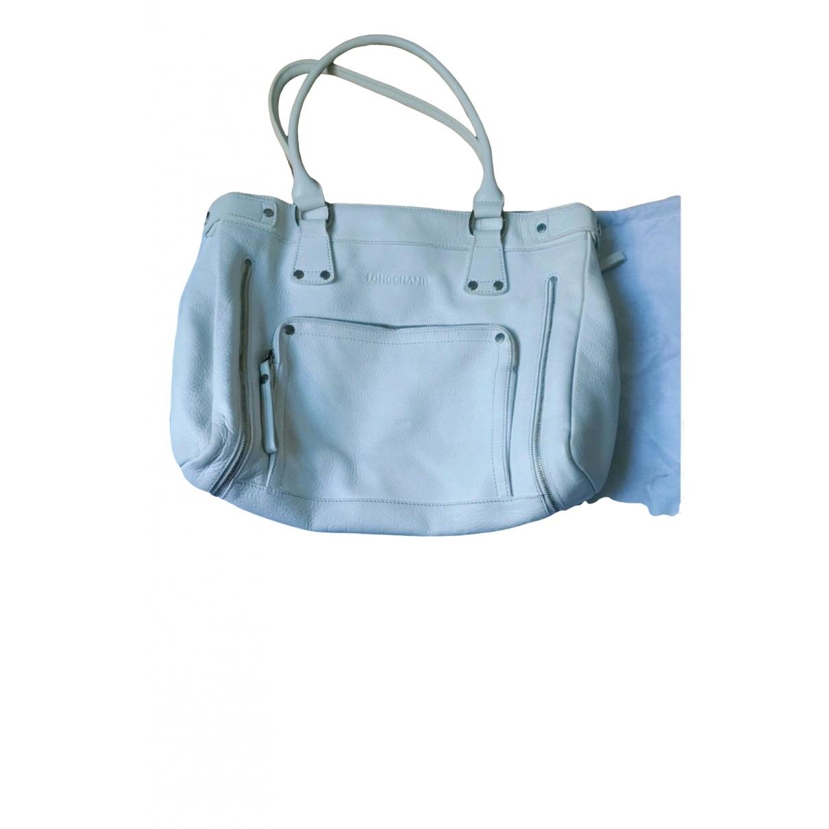Longchamp \N White Leather handbag for Women \N