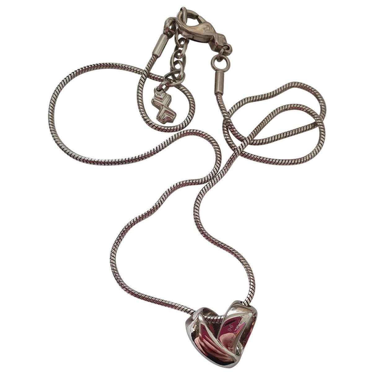 - Sautoir Motifs Coeurs pour femme en acier - argente