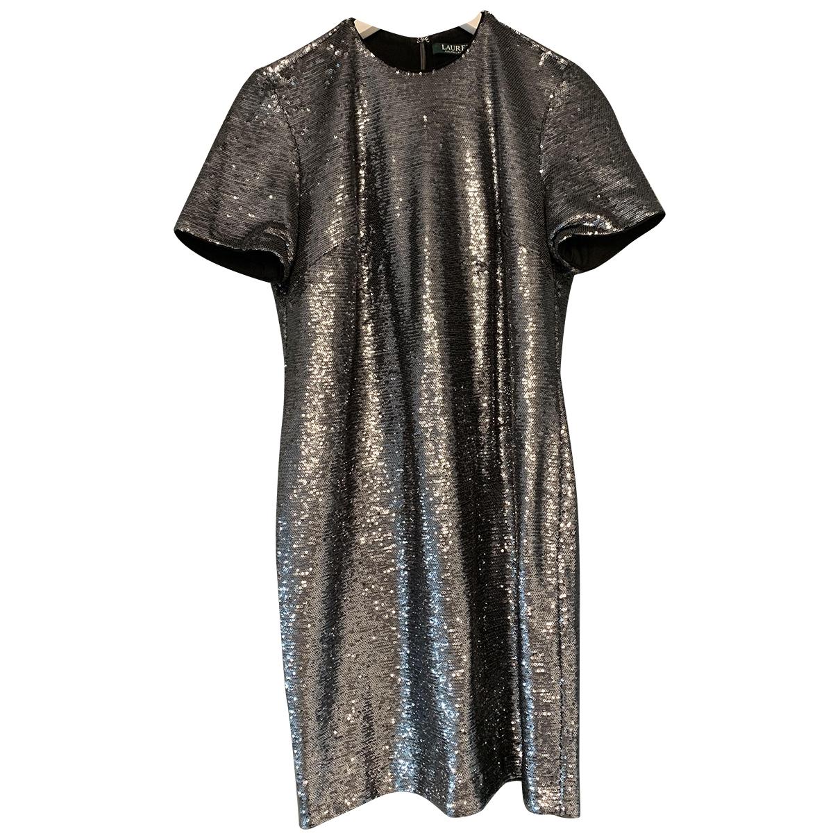 Lauren Ralph Lauren \N Kleid in  Metallic Mit Pailletten