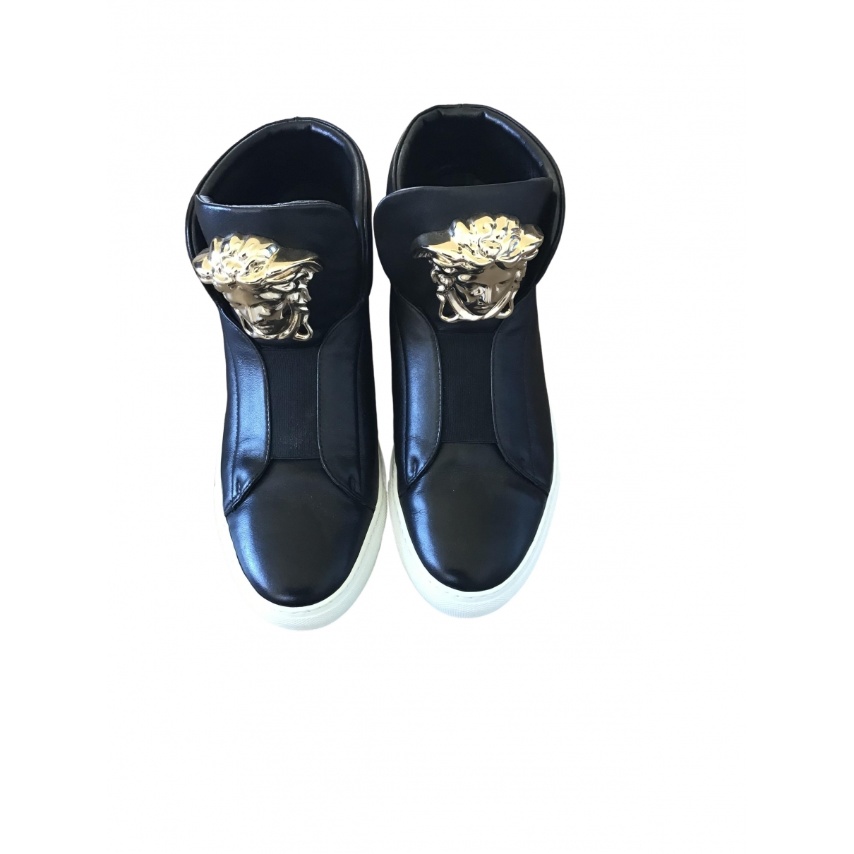 Versace \N Black Leather Trainers for Women 38 EU