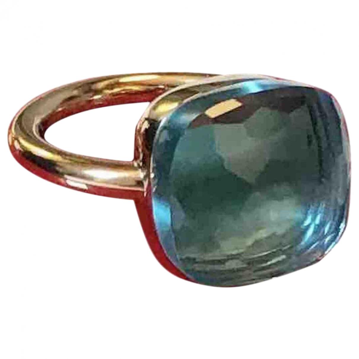 Pomellato Nudo Ring in  Blau Rosegold