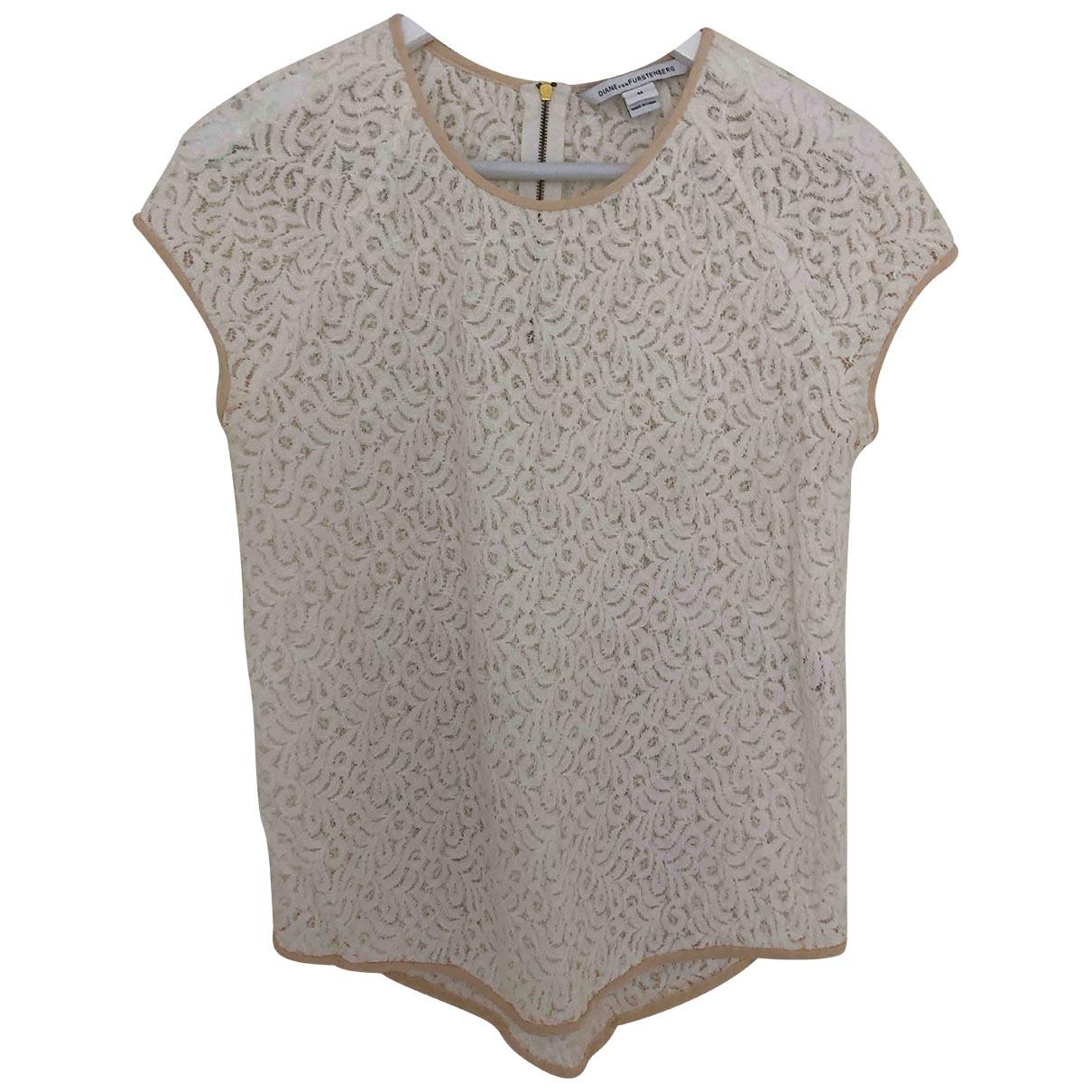 Diane Von Furstenberg - Top   pour femme en coton - blanc