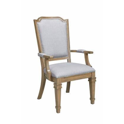 BM163788 Modern Vintage  Style Dining Armchair  Gray & Brown  Set of