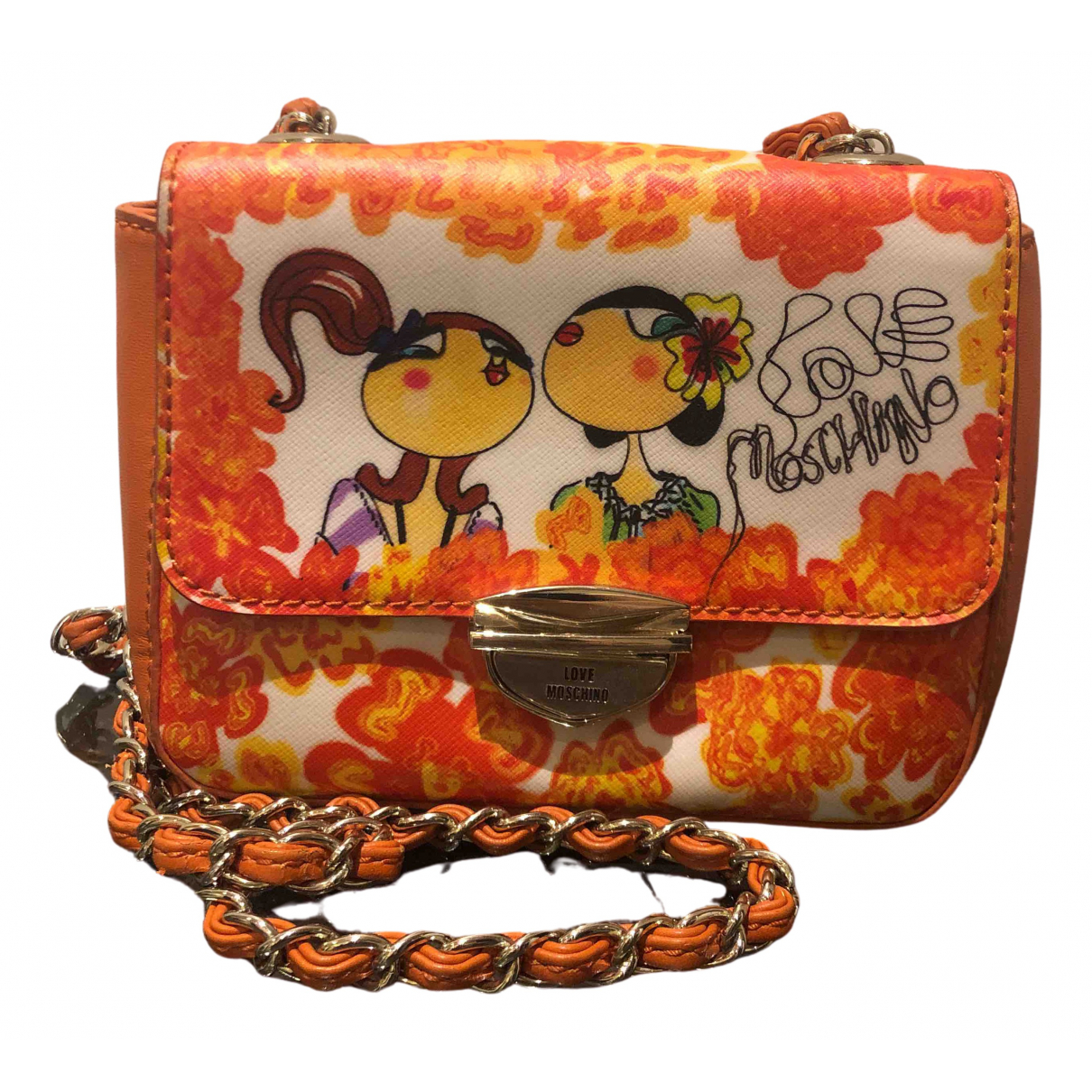 Moschino Love - Sac a main   pour femme en cuir - orange