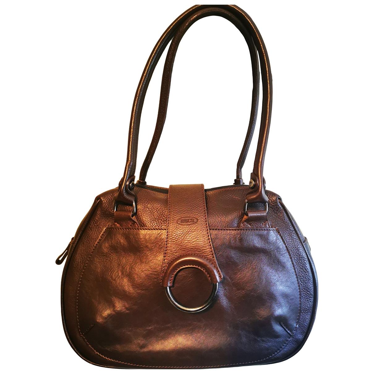 Brics - Sac a main   pour femme en cuir - marron