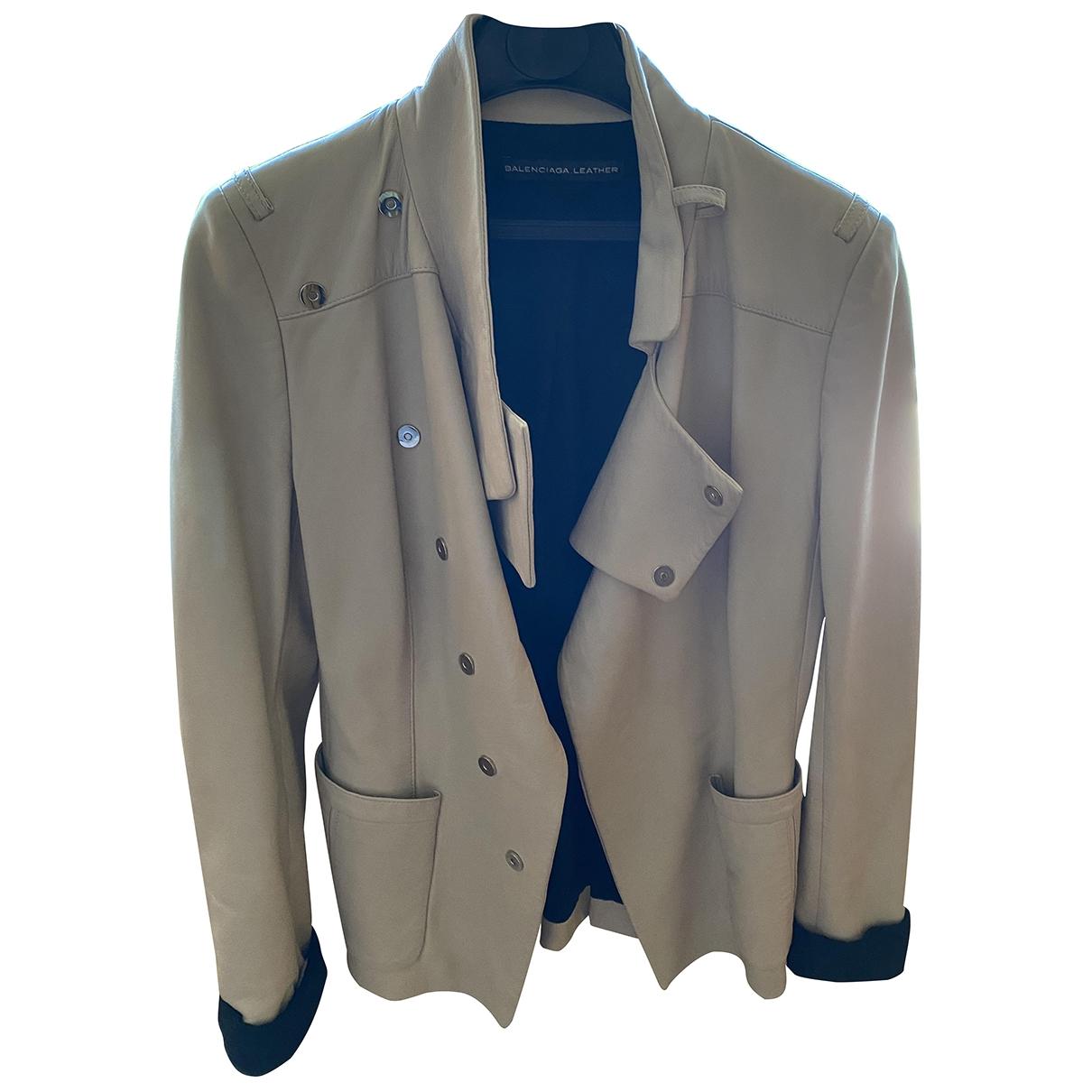 Balenciaga \N Beige Leather jacket for Women 38 FR