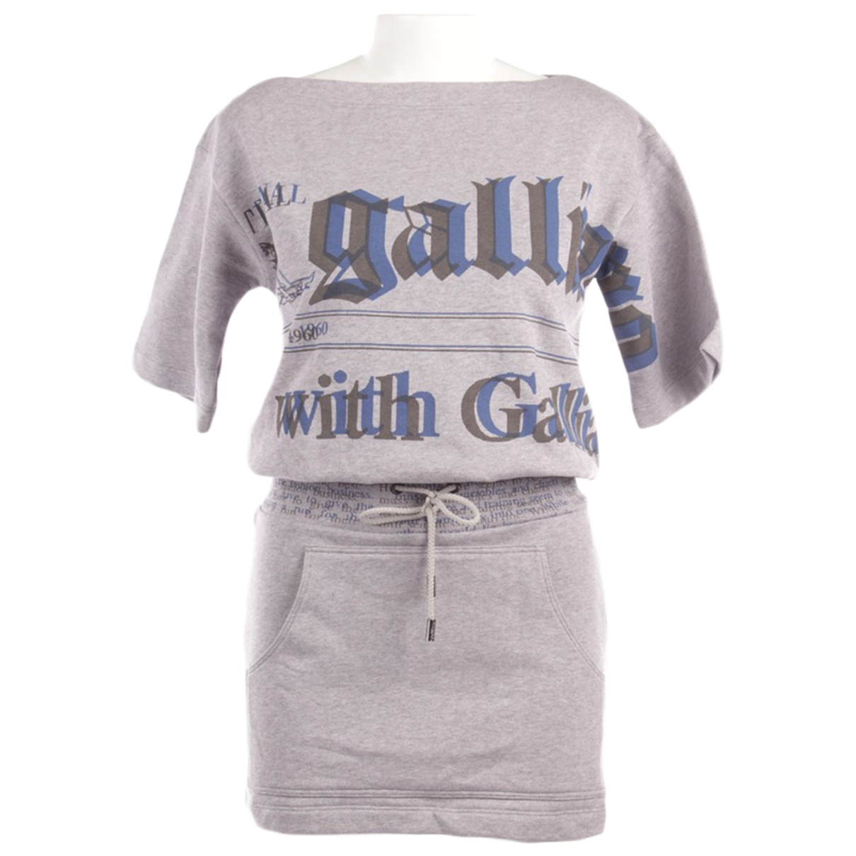 John Galliano N Grey Cotton dress for Women XXS International