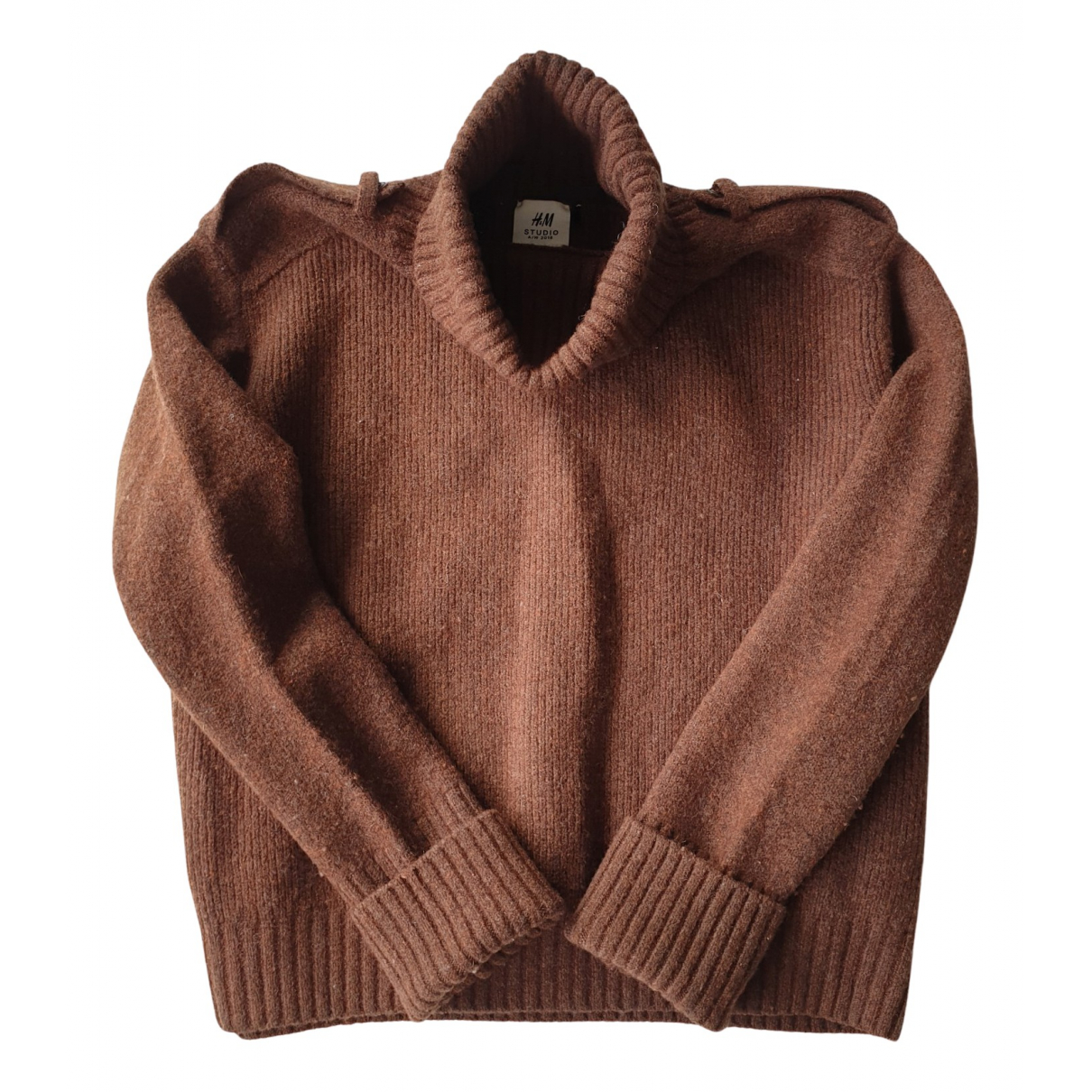 H&m Studio N Brown Wool Knitwear for Women 40 FR