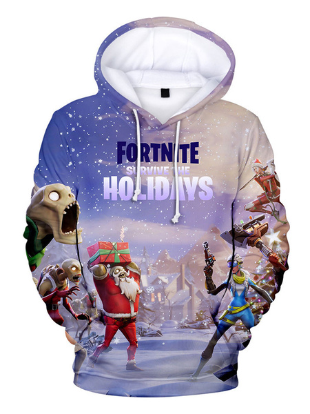 Milanoo Fortnite Costumes Christmas Hoodie For Adults Holiday Christmas Hoodie Halloween