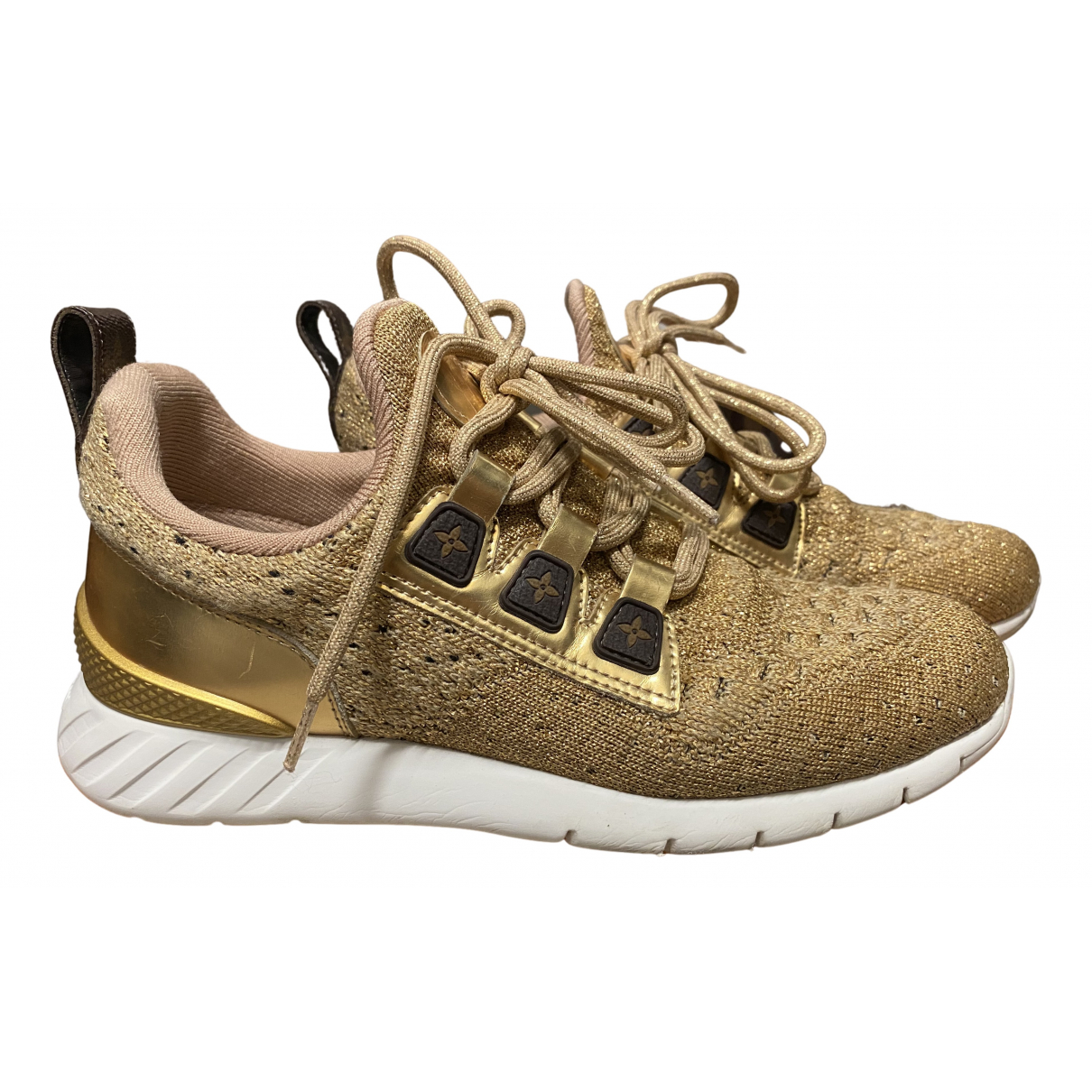 Louis Vuitton Aftergame Sneakers in  Gold Leinen