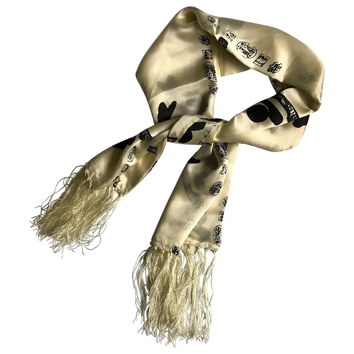 Non Signé / Unsigned \N Beige Silk Silk handkerchief for Women \N
