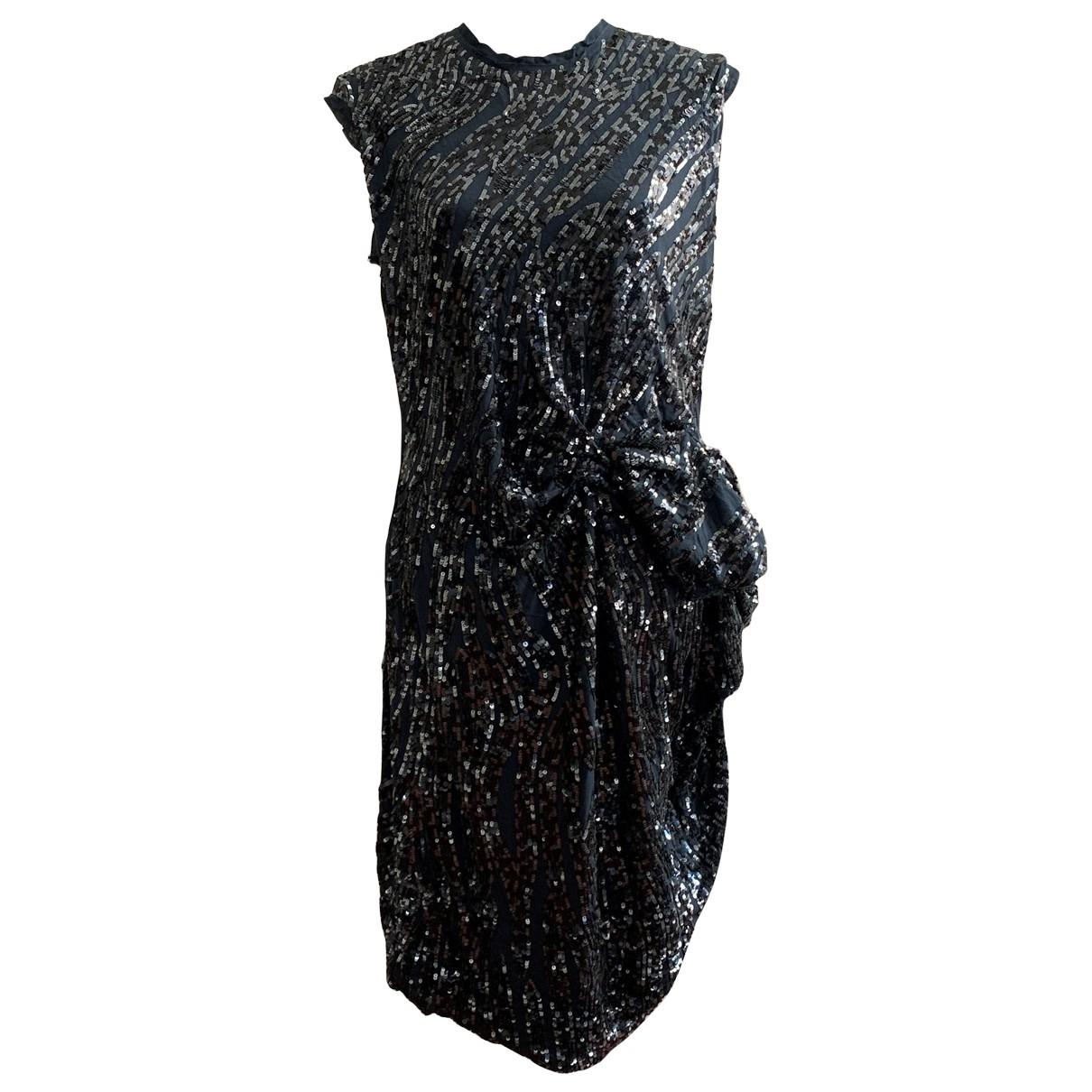Lanvin \N Kleid in  Marine Mit Pailletten