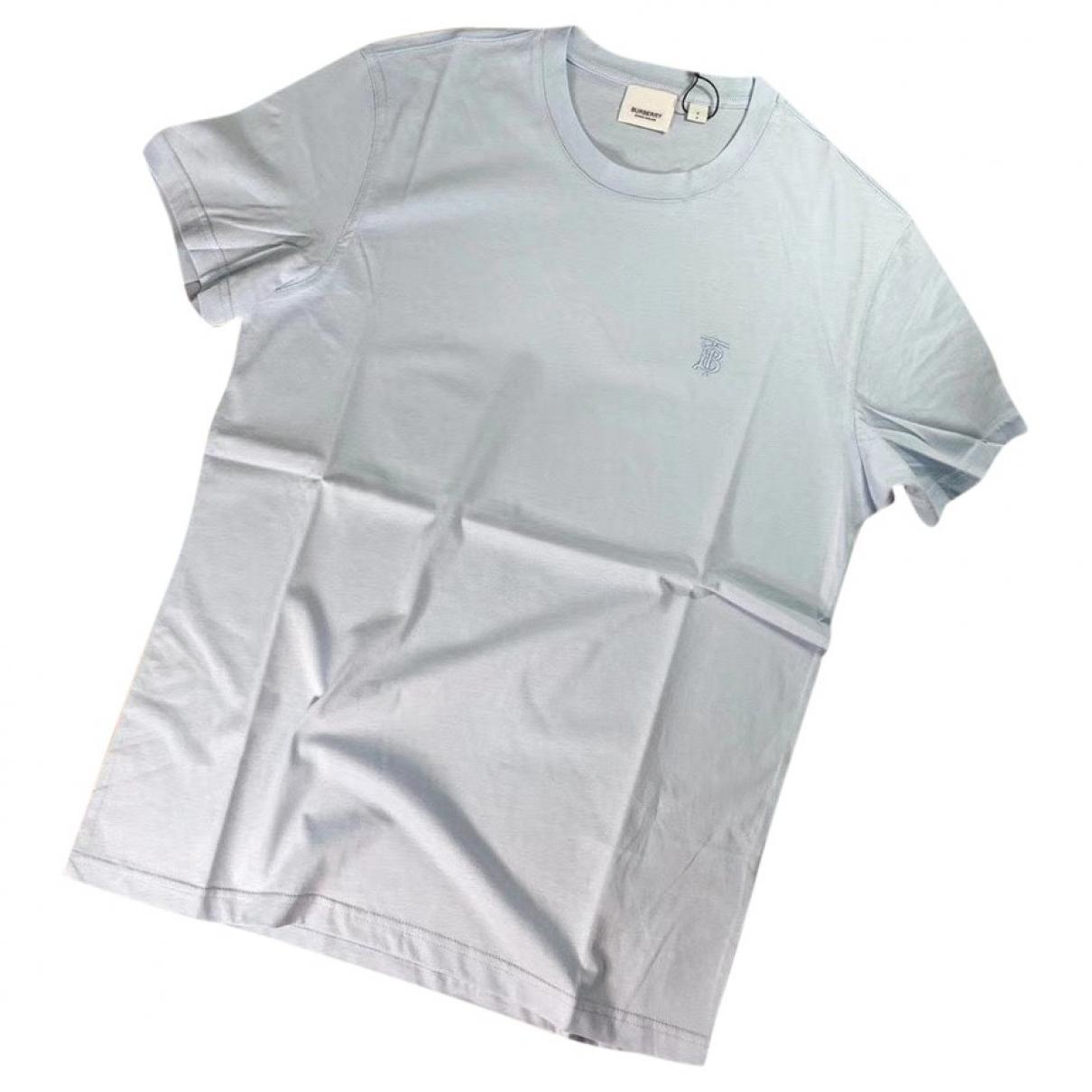 Burberry \N Blue Cotton T-shirts for Men L International