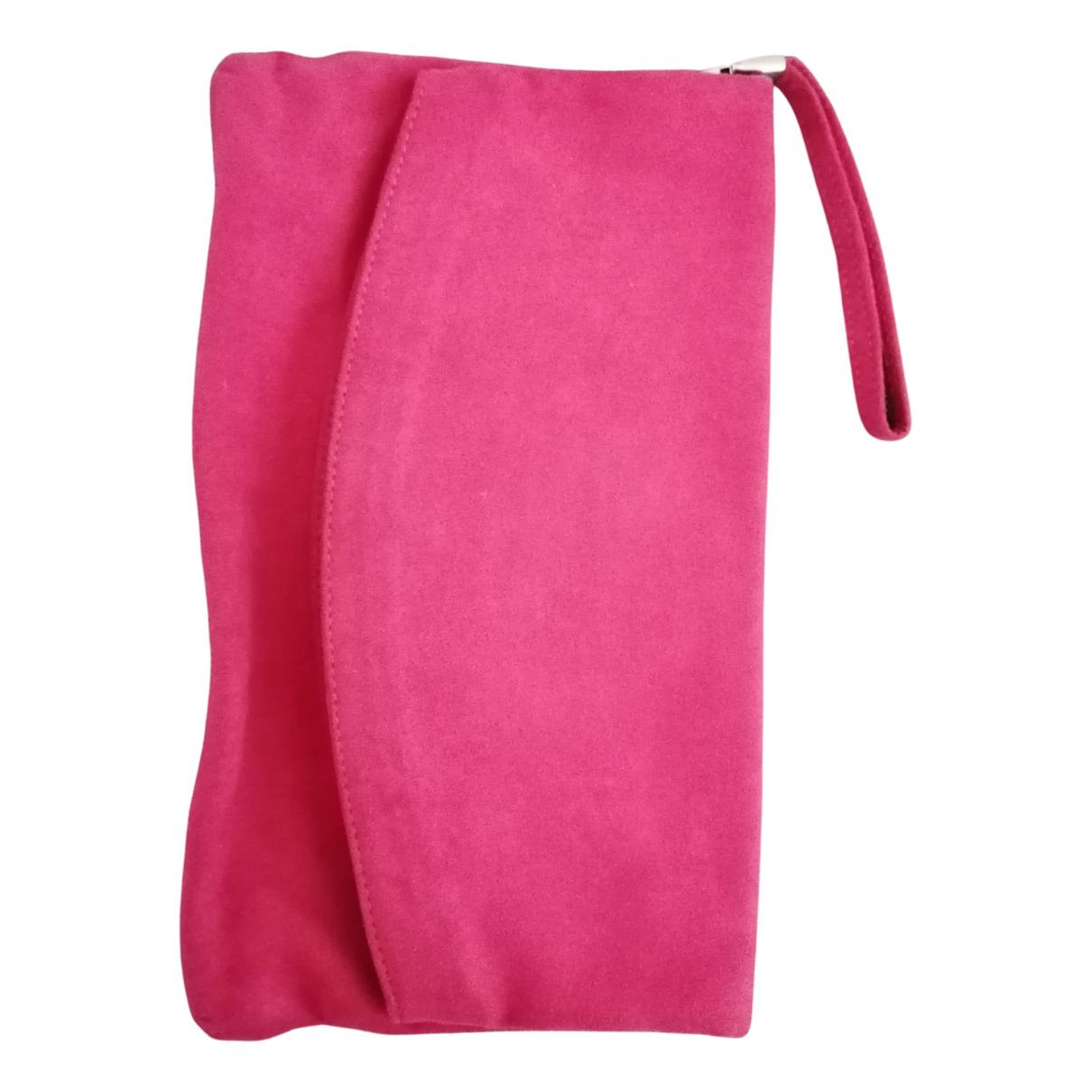 - Pochette   pour femme en suede - rose