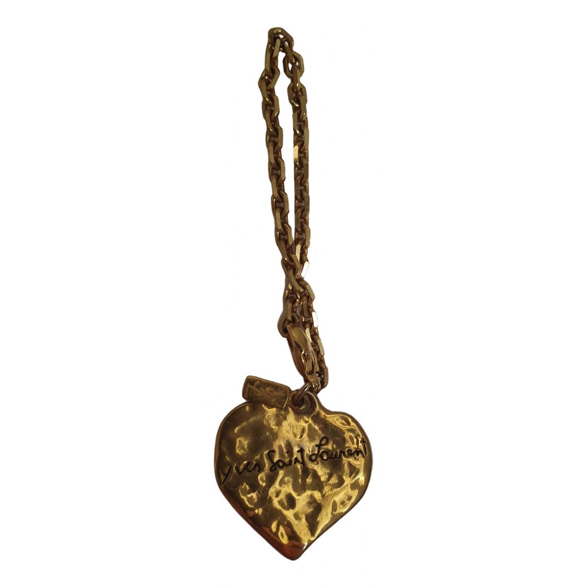 Yves Saint Laurent - Bijoux de sac   pour femme en plaque or - dore