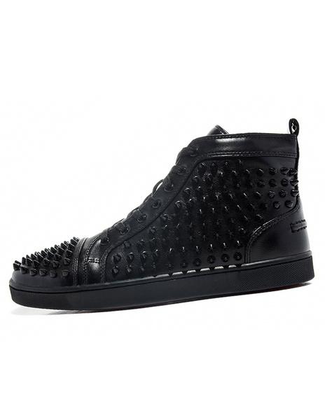 Milanoo Zapatillas de deporte 2020  para hombre Zapatos de piel de carnero con clavos de estilo informal