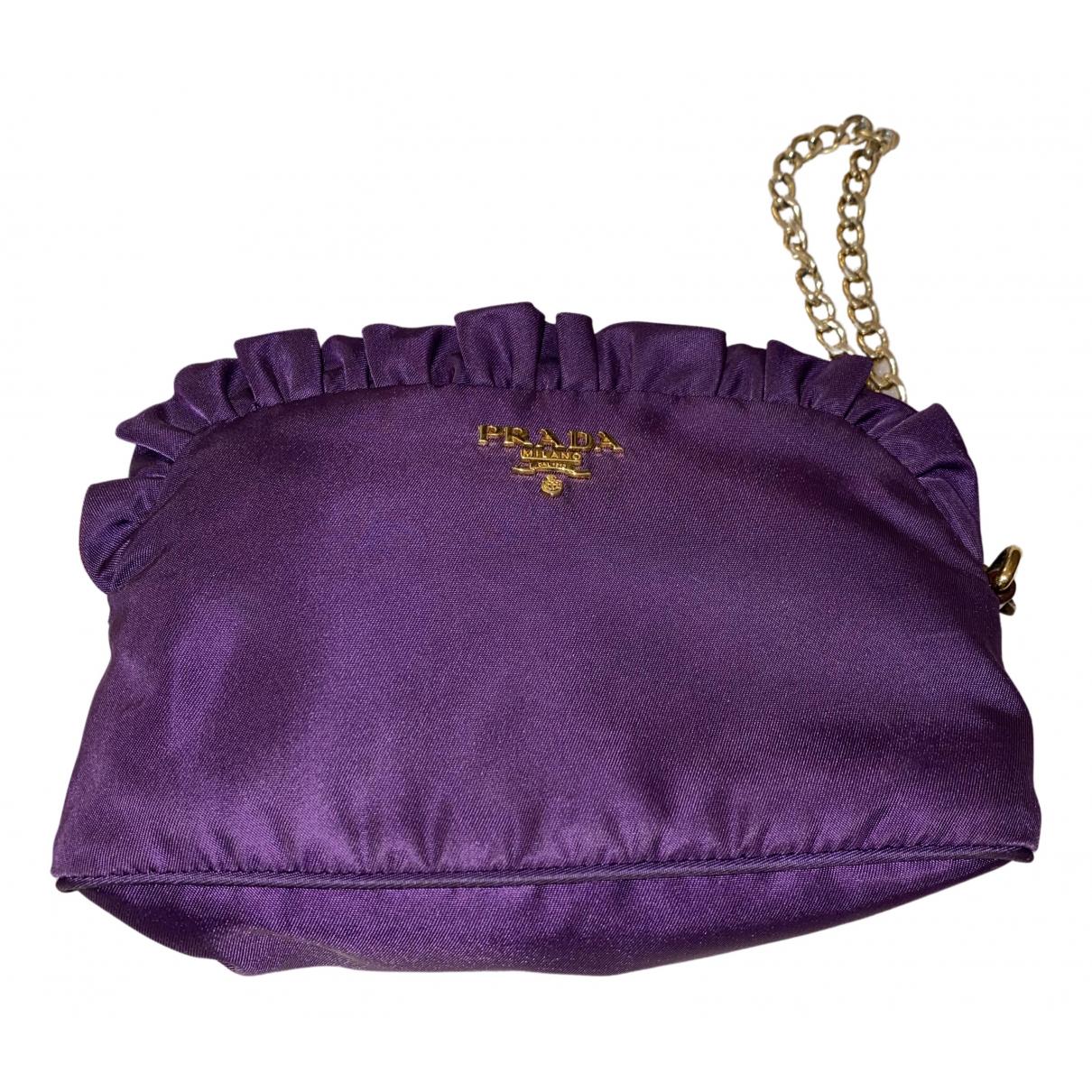 Prada - Pochette   pour femme en toile - violet