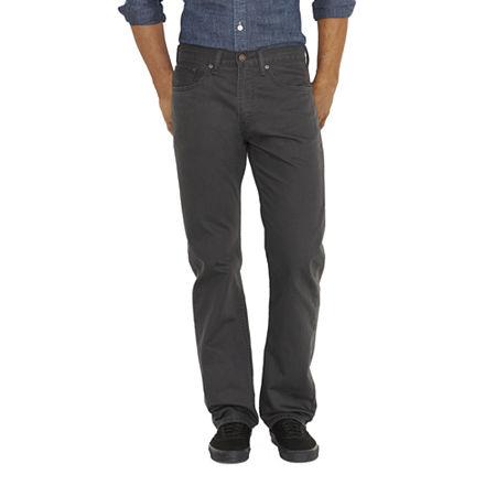 Levi's Men's 505 Regular Twill Pants, 42 30, Gray