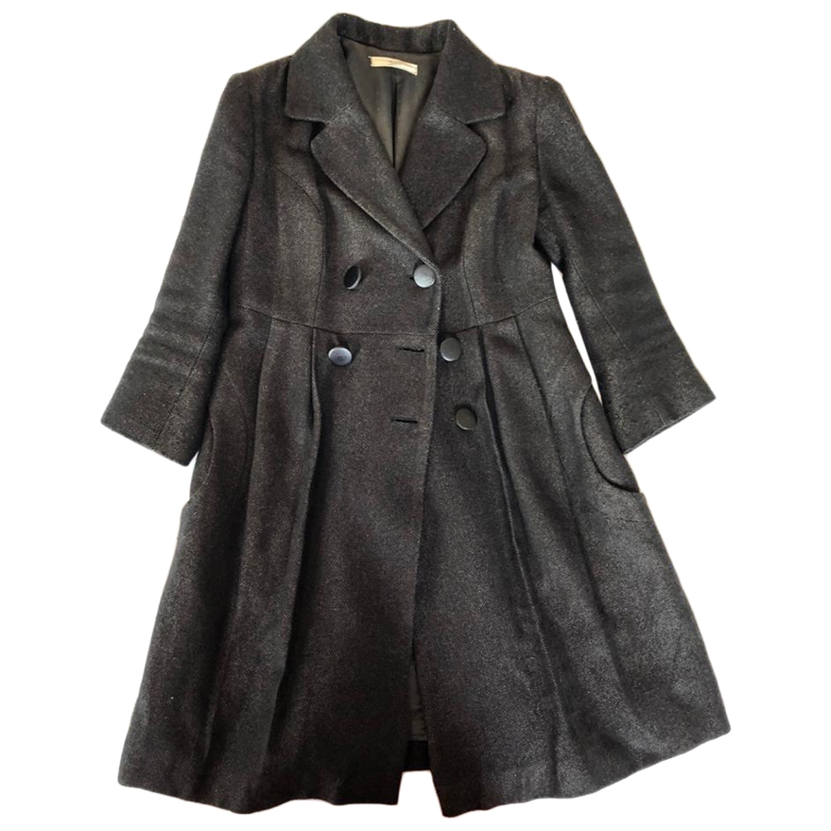 Non Signé / Unsigned \N Grey Wool coat for Women 40 IT