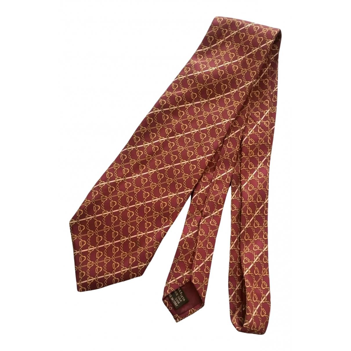 Gucci N Burgundy Silk Ties for Men N